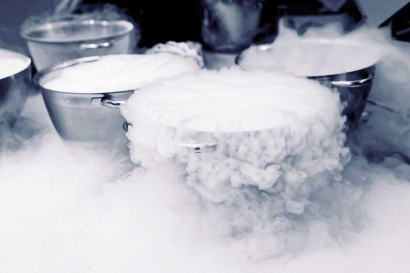 fondue met vloeibare stikstof